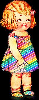 Paper Doll, Girl, Retro, Vintage, Cute