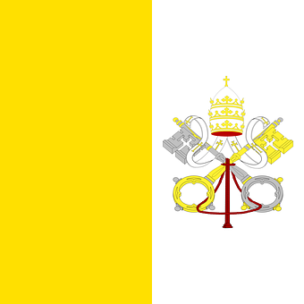 Vatican, Flag, Vatican City, Holy See, Papal States