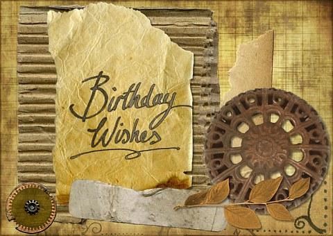 Happy Birthday, Greeting, Card, Grunge