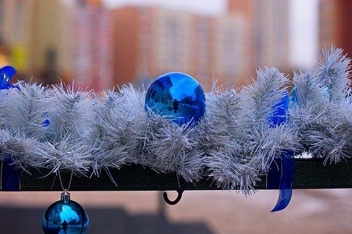 Holiday, Toy, Frost, Siberia, Russia, Blue, White