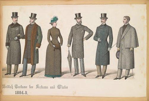Fashion Plates, 1800s, Fashion, Old Paper