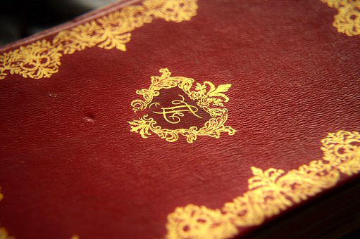 Book, Former, Old, Gilding, Reliefs