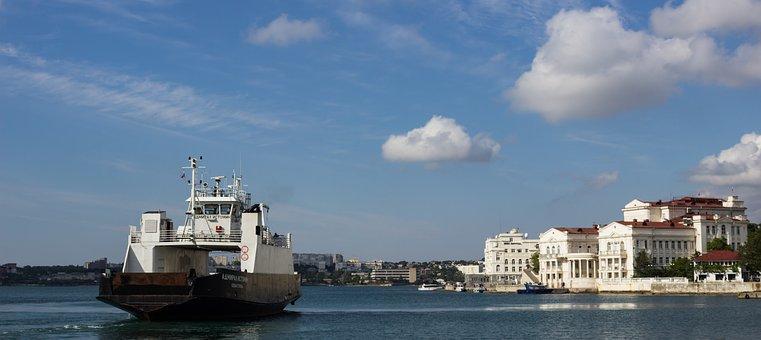 Russia, Crimea, Sevastopol, Sea, Clouds