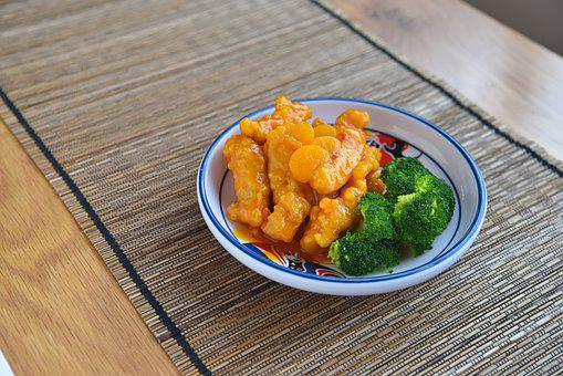 Sweet And Sour, Chicken, Food, Lunch, Sour, Pork, Asian