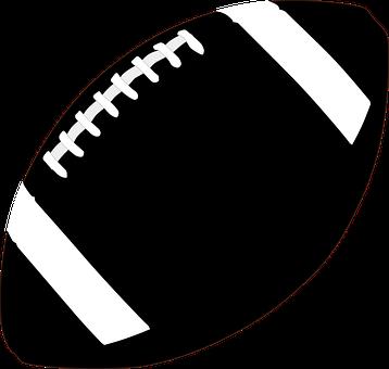 American Football, Egg Ball, Black And White, Symbol