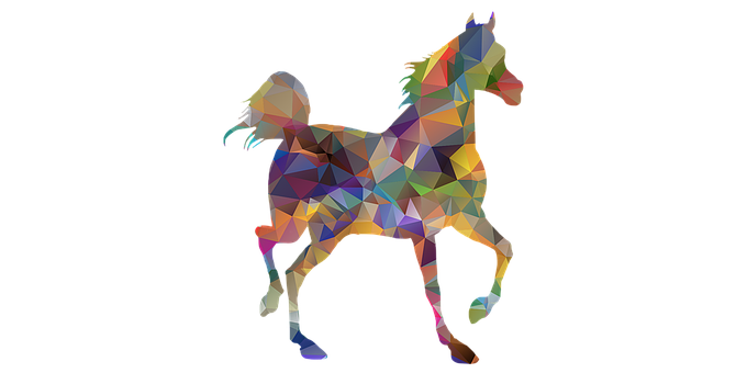 Horse, Low Poly, Animal, Riding Horse, Horse Rider