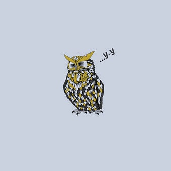 Owl, Bird, Humor, Background, Picture, Black, Drawing