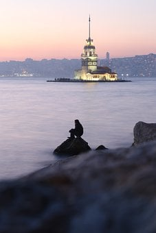 Tower Girl, M, Istanbul, People, Nature
