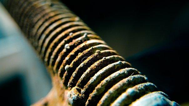 Thread, Metal, Old, Screw, Iron, Rust, Gear, Nuts