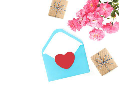 Envelope, Flower, Rose, Fashion, Valentine, Wedding