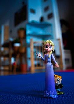 Elza, Frozen, Toy, Detail, Background, Children, Bed
