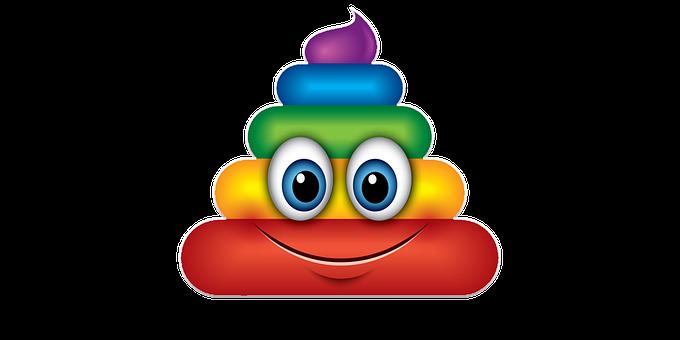 Poo, Poop, Funny, Smile, Laugh, Joke, Waste, Colors
