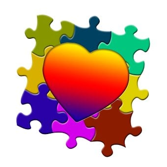 Puzzle, Heart, Love, Arrangement, Components, Collage