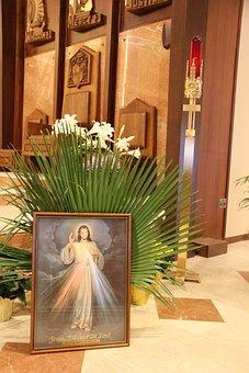 Divine Mercy, Jesus, Catholic, Palms
