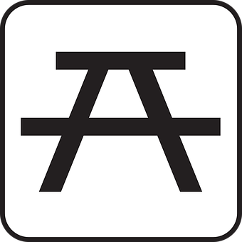 Picnic Area, Bench, Rest Area, Resting Place, Symbol