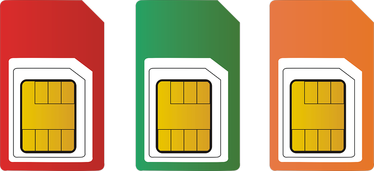 Sim, Card, Red, Mobile, Phone, Technology, Chip