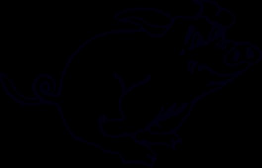Pig, Running, Animal, Tail, Pork, Fear, Curly