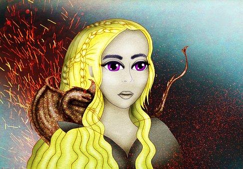 Daenerys Targaryen, Khaleesi, The Mother Of Dragons