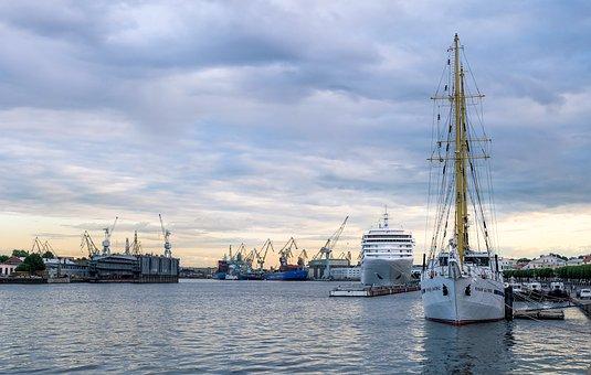 Port, Pierce, Ship, River, Shipping