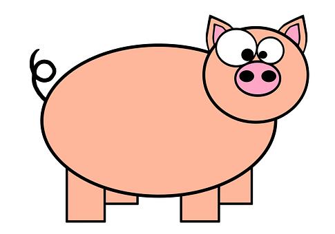 Ring-tailed, Pig, Pork, Swine, Animal, Farm, Happy