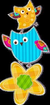 Baby Owl, Owl, Flowers, Cute, Nocturnal, Looking, Birds