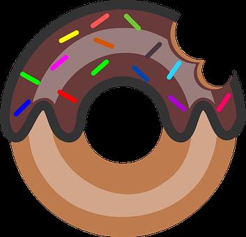 Doughnut Vector Art, Doughnut 2d Art, Doughnut Svg File