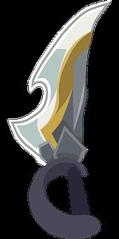 Knife, Dagger, Free Customizable Svg File