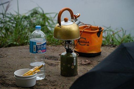 Outdoor, Coffee Pot, Tea, Umbrella, Happy, Joy, Leisure