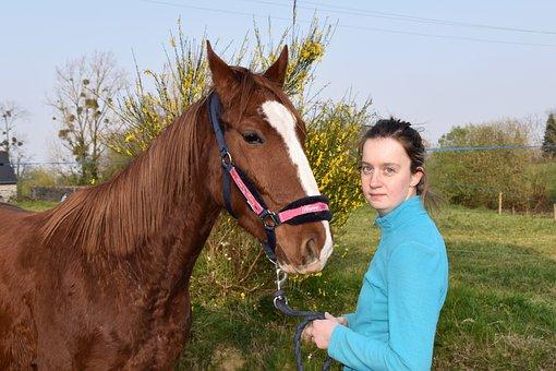 Horse Girl, Equine, Horseback Riding, Tenderness