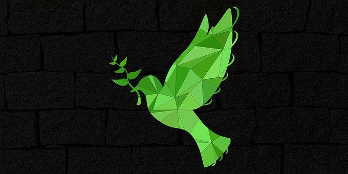 Peace, Pigeon, Peace Sign, Peace Icon, Brick Wall