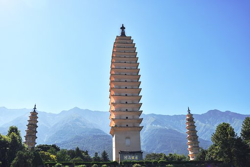 Religion The Three Towers, Dali, In Yunnan Province
