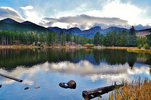Reflections, Rockies, Colorado, Rocky Mtn