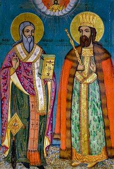 St, Erasmios And St, John, Saint, Wooden Icon, Painting