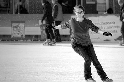 Girl, Woman, Young, Person, Skating, Artistic, The Rink