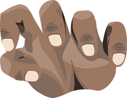 Black Hand, Black Grasping Hand, Svg File