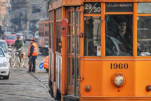 Milan, Tram, City, Road, Urban, Old, Transport