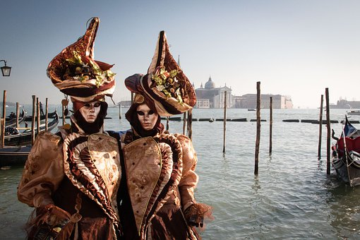 Venice, Masks, Carnival, Italy, Disguise, Art, Costume
