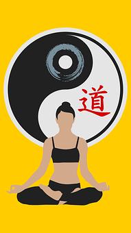 Cat, Yin Yang, Women, Silhouette, Yoga, Meditation