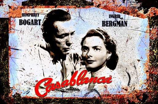 Casablanca, Ingrid Bergman, Humphrey Bogart, Actress