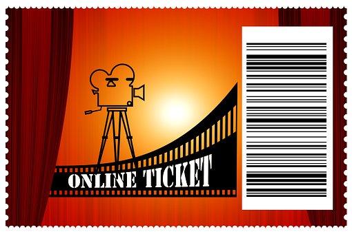 Cinema, Admission Ticket, Online Ticket, Code, Barcode
