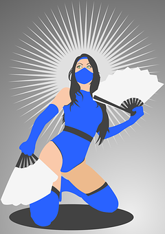 Kitana, Cosplay, Mortal Kombat, Fan Art, Costume, Women