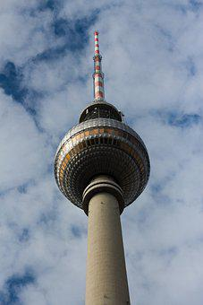 Tvtower, Berlin, Sky, Tv-tower, Tower, Fernsehturm