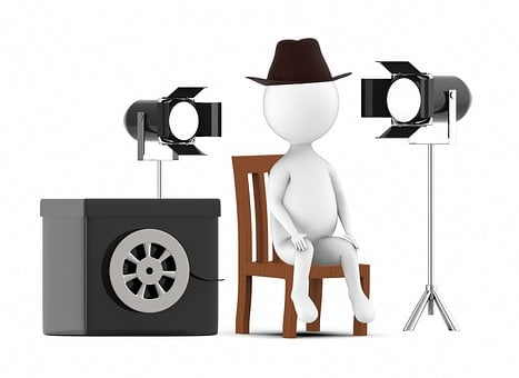 Man, 3d, Cinema, Video, Production, Isolated, Human
