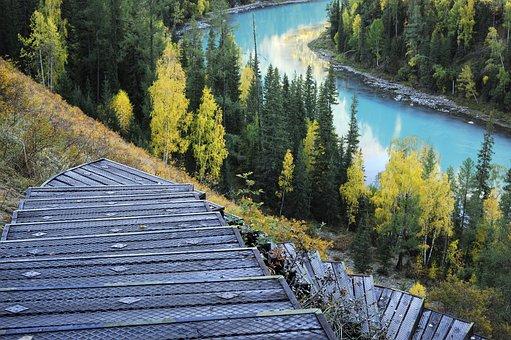 Kanas, Sanctuary Cove, Stairs, Lake