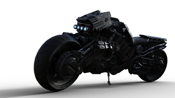 Motorcycle, Mad Max, Isolated, Transparent Background