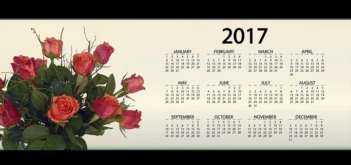 Agenda, Calendar, Roses, Flowers, Floral Arrangement