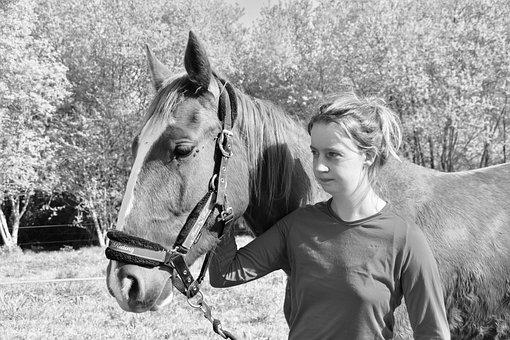 Girl, Girl With Her Horse, Young Woman Lou