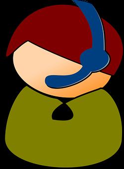 Call Center, Headset, Support, Helpdesk, Help-desk, Man