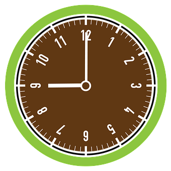 Hours, The Time, Nine O'clock, Png, Free Images
