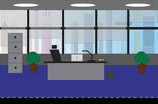 Office, Office Chamber, Modern, City, Model